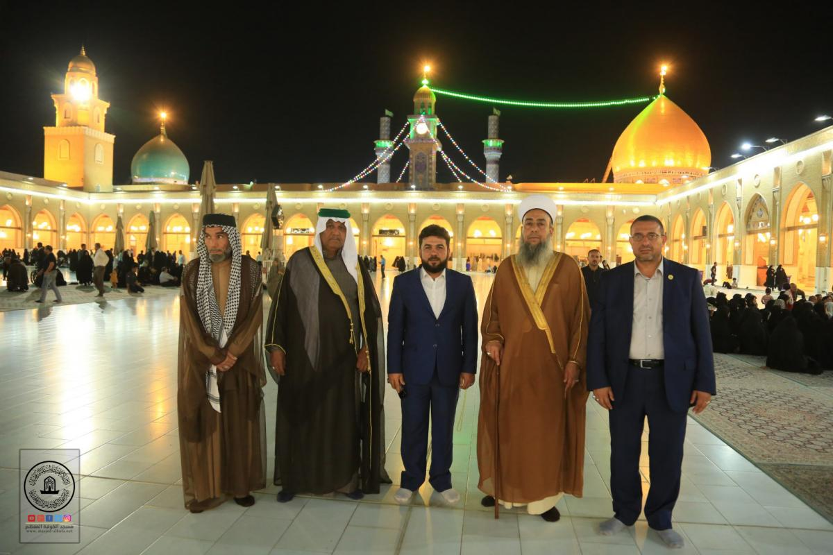 In Pictures  Arrahman Mosque In Baquba City  Sheikh Ahmad Asumaida'e gets  honor by paying a visit to ALkufa Grand Mosque