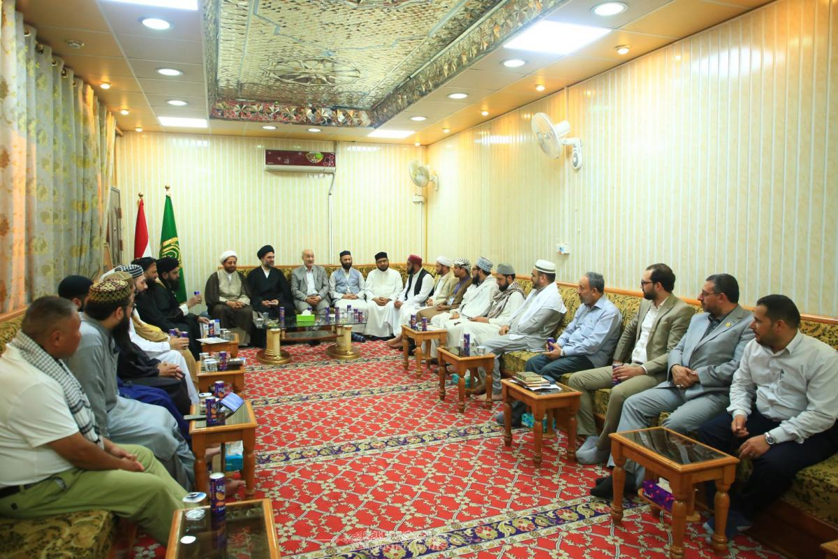 Alkufa Grand Mosque Secretariat meets delegation of scholars from Kirkuk Governorate
