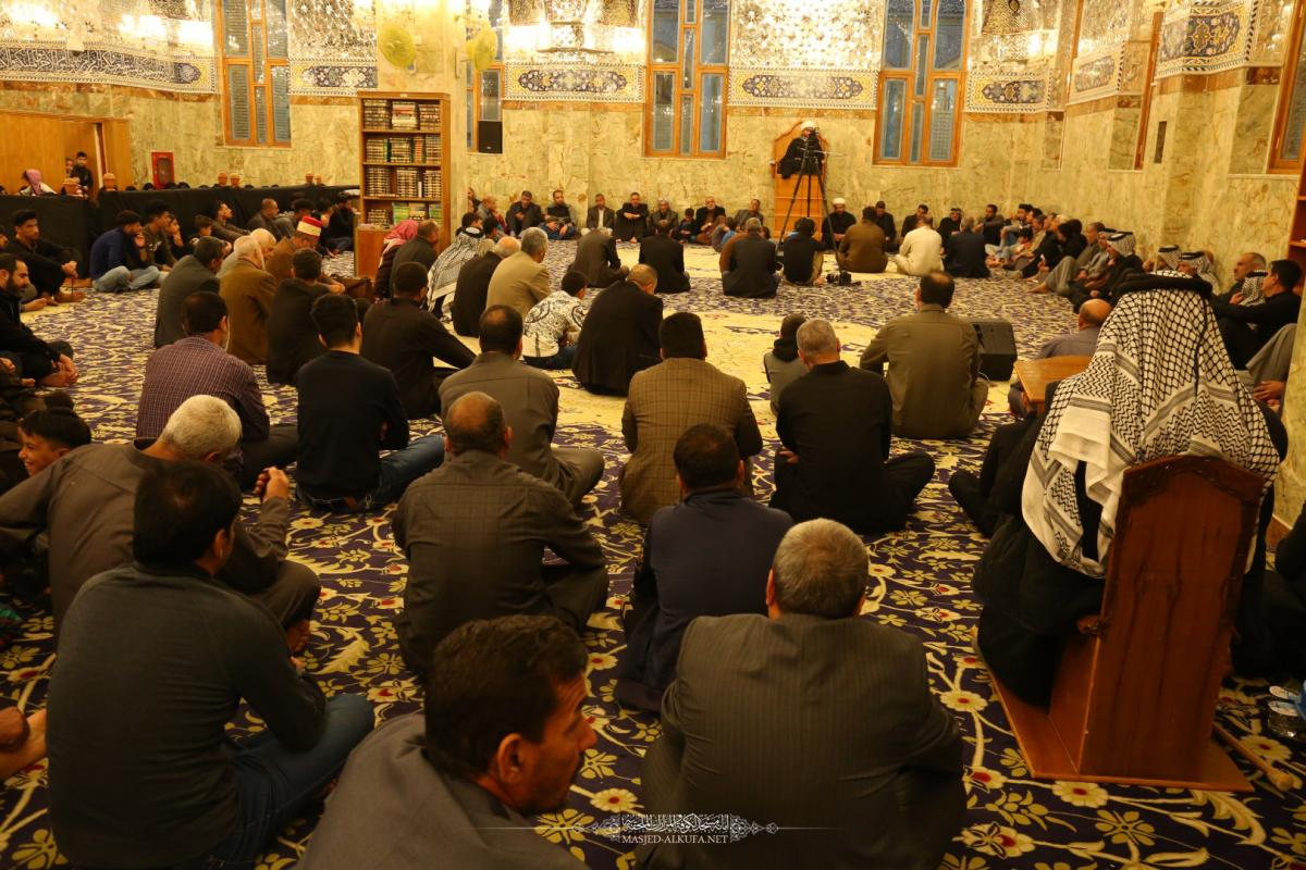 In pictures  Alkufa Grand Mosque Secretariat holds Condolence Session on occasion of Imam Alkadhim's (AS)