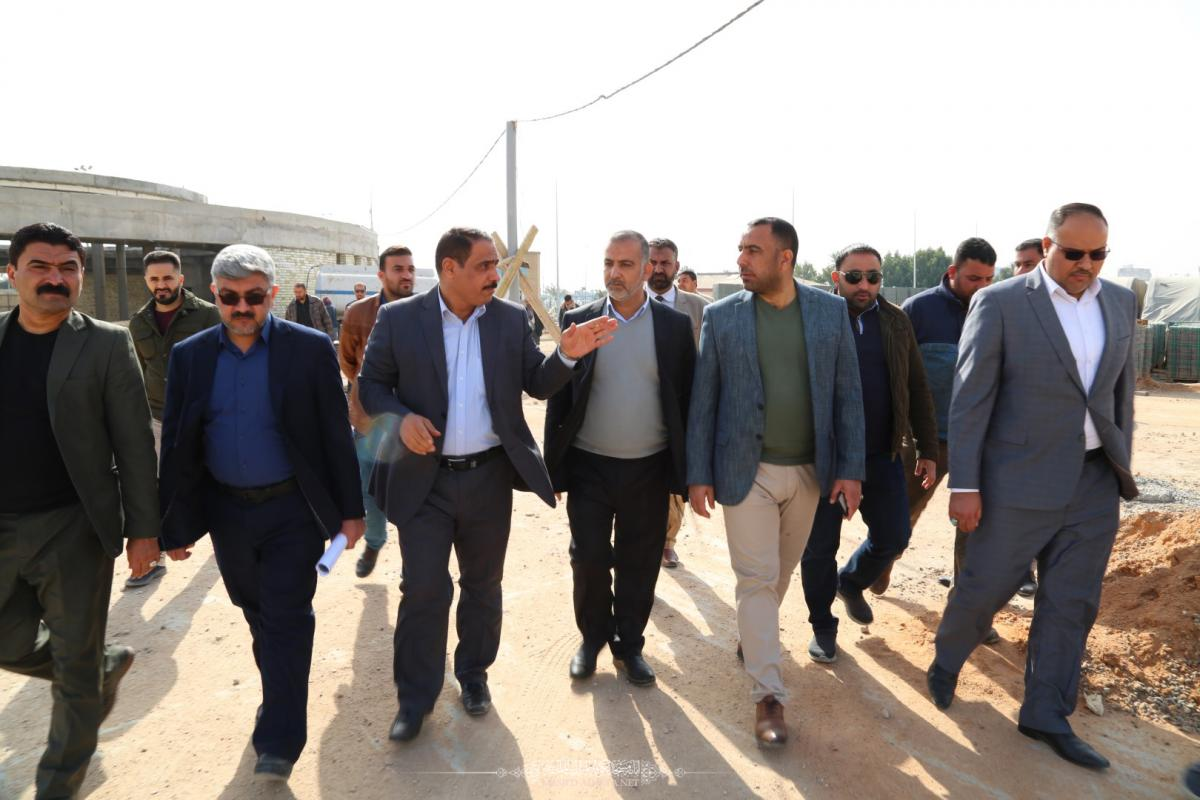 In pictures  Secretary –General of Alkufa Grand Mosque, Governor Deputy, Director-General of Municipalities Directorate, Manager of Alkufa Municipality examine stages of Achieving Moslem Bin Aqeel (AS) tunnel