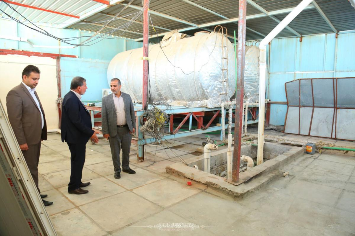 In pictures : Alkufa Grand Mosque Secretary-General inspects renovation project of Moslem Bin Aqeel (AS) residence , maintenance workshop