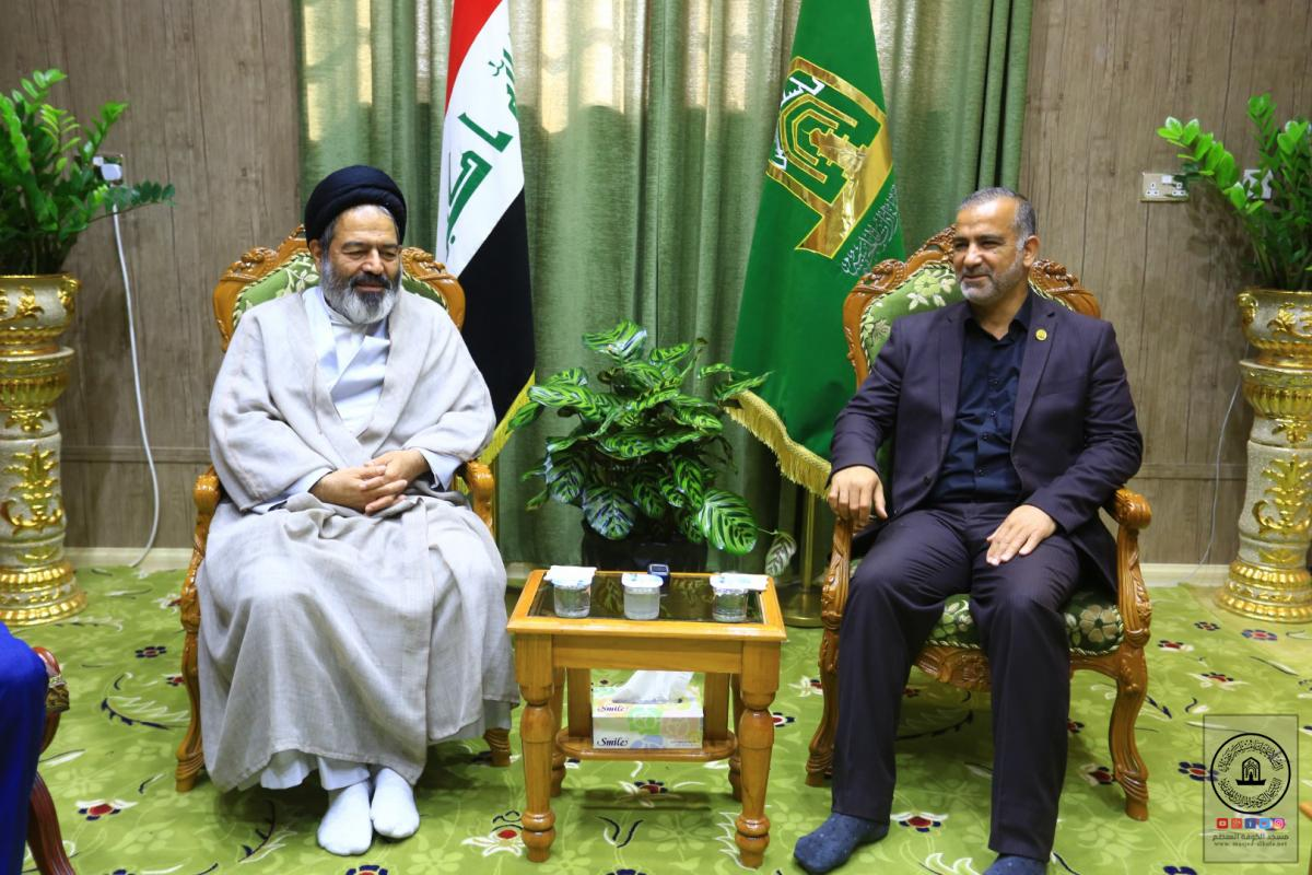 Secretary- General of Alkufa Grand Mosque  receives representative Of Islamic Republic of Iran for Haj and Omrah