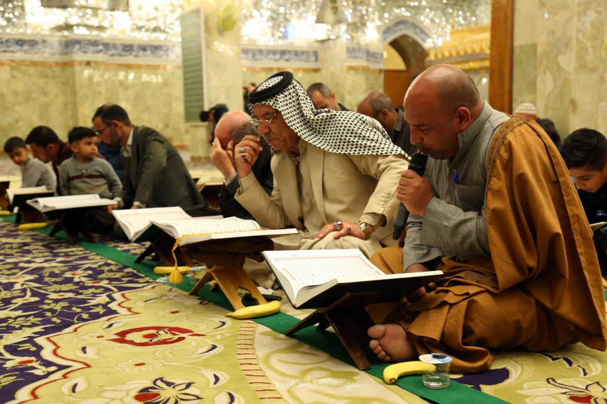 In pictures  Weekly Quranci Sessions go on at holy Shrine of Hani Bin Erwa (AS)
