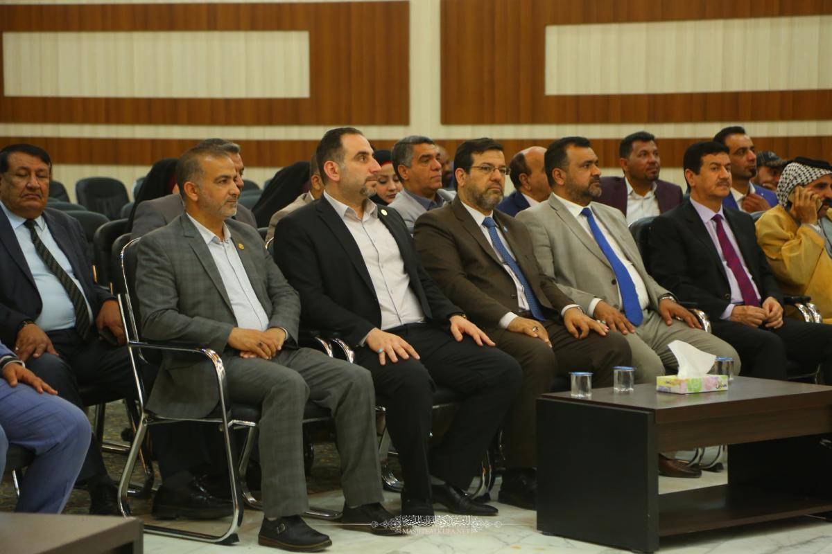ALkufa Grand Mosque Secretary- General attends celebration of Annajaf Pressmen on passing 109 year of Annajaf Journalism