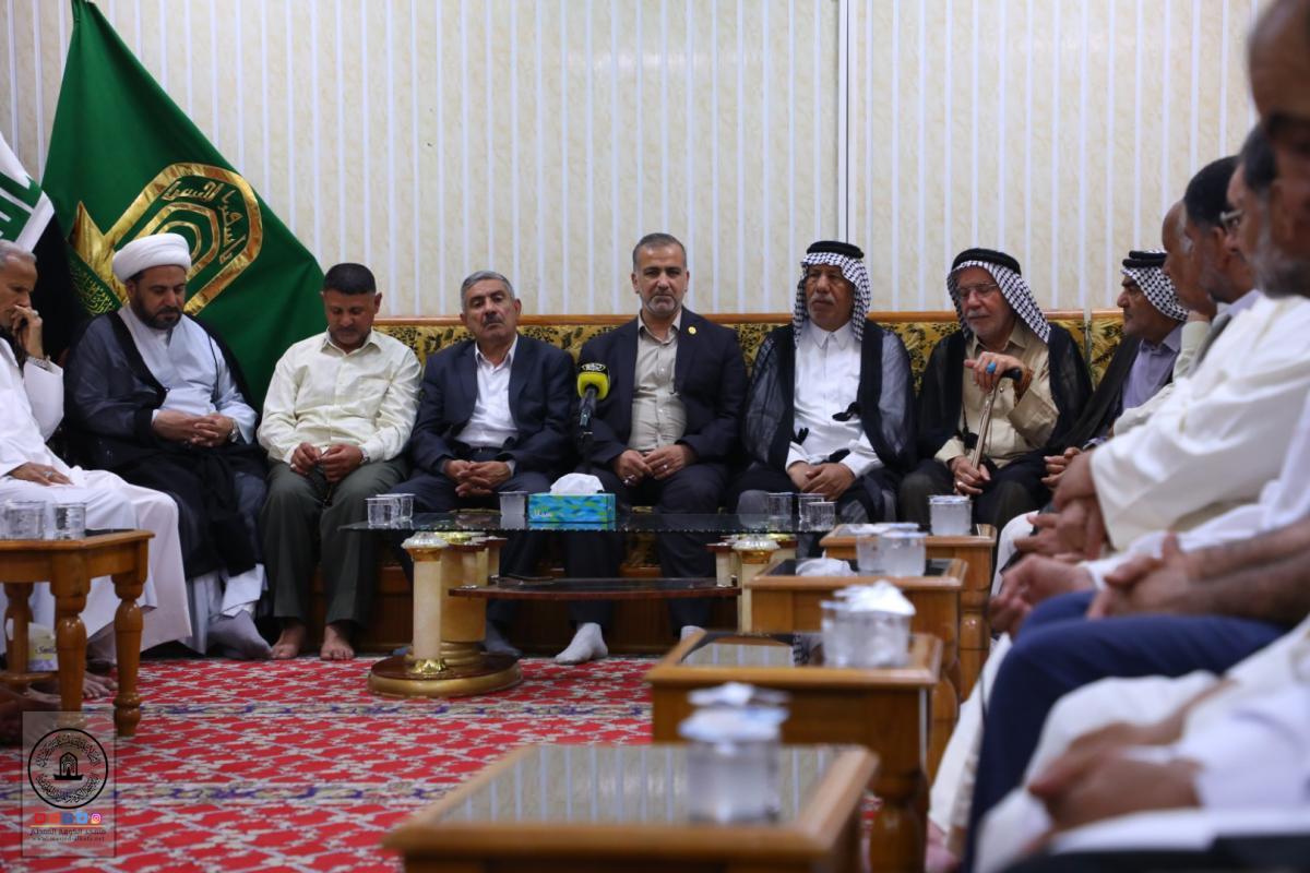 Alkufa Grand Mosque Secretary-General discusses arrangements of Moslem's bin Aqeel ( AS) Martyrdom with   service  Mawkib