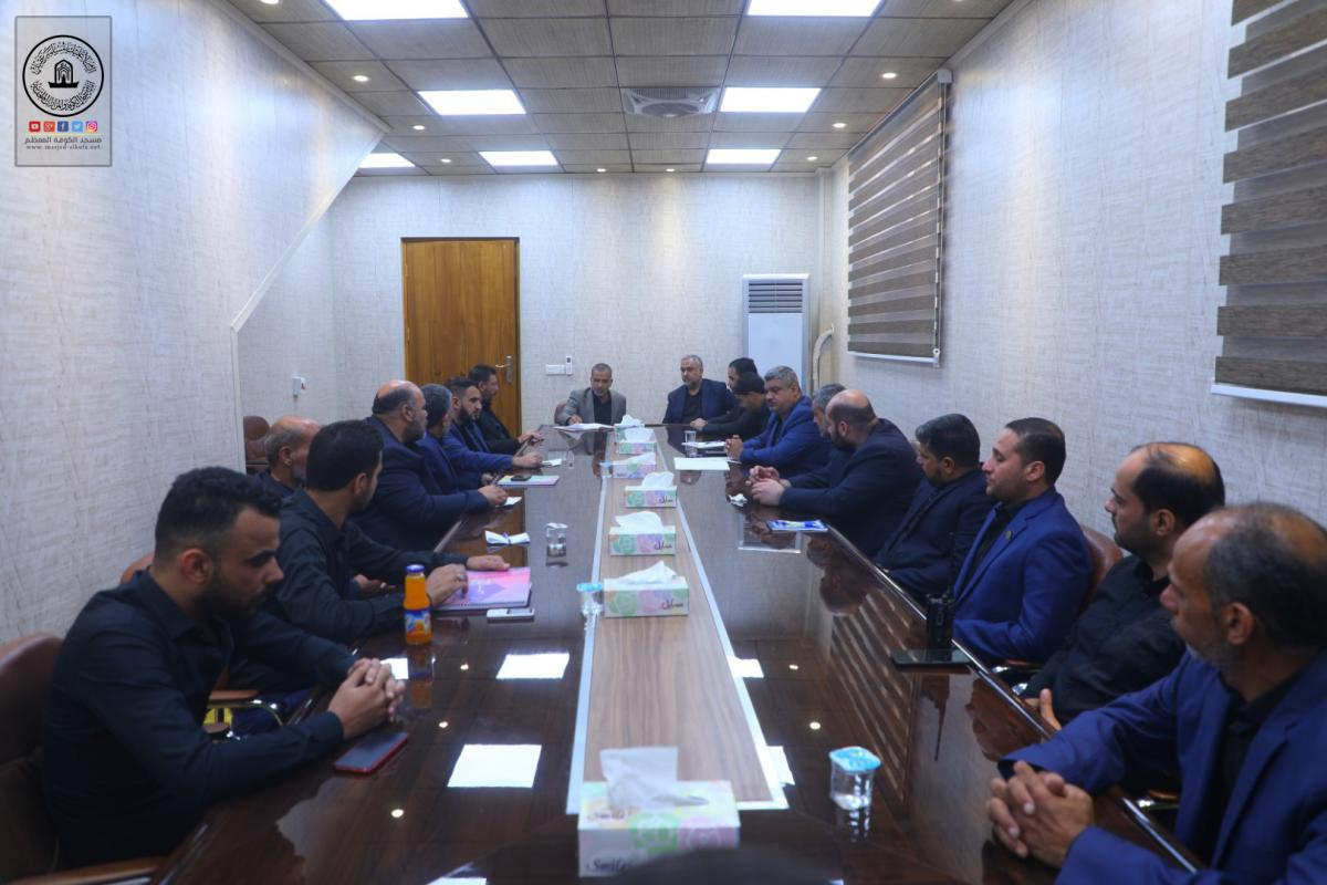 Alkufa Grand Mosque Secretary-general discusses arrangements of keeping order department during Arba'een visit