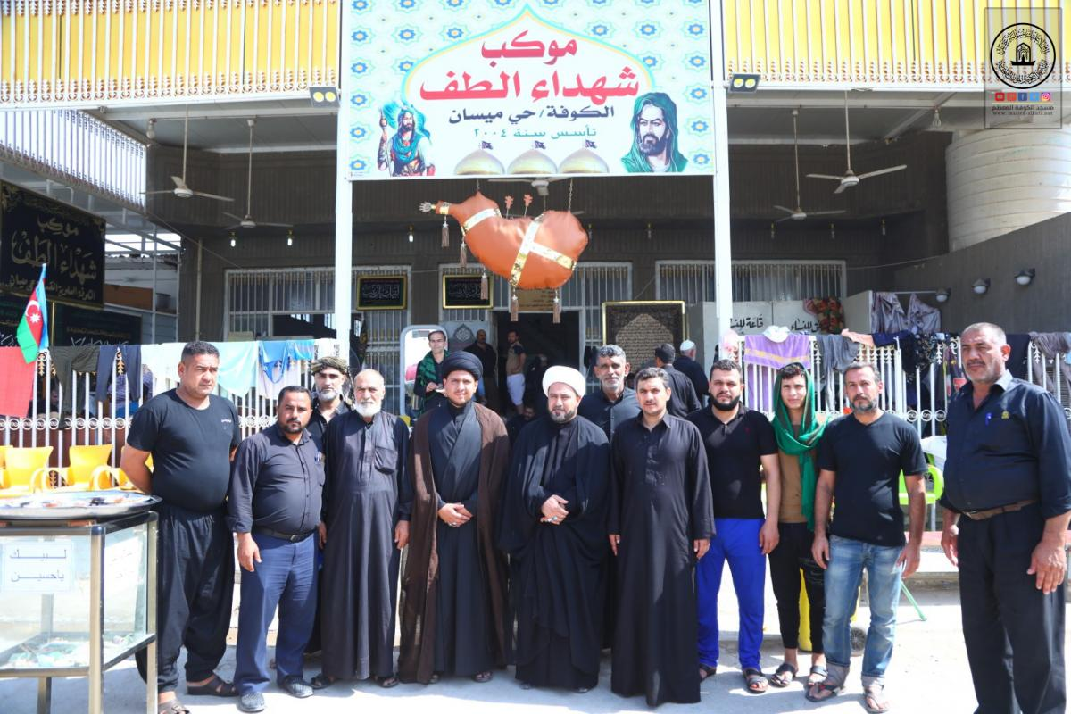 Alkufa Grand Mosque goes on supporting Hussaini Processions offered their services to Arbaeen visitors