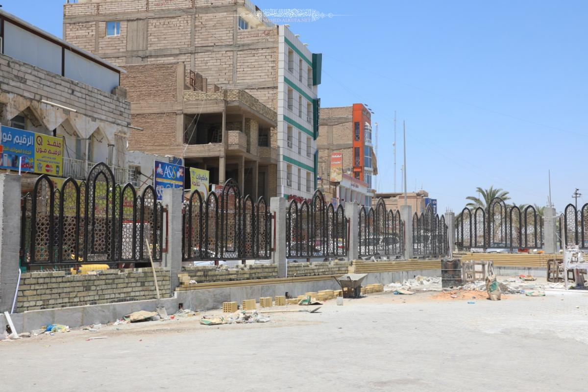 Works continued  in new fence around Alkufa Mosque achieved by Engineering, Technical Cadres of Alkufa Grand Mosque