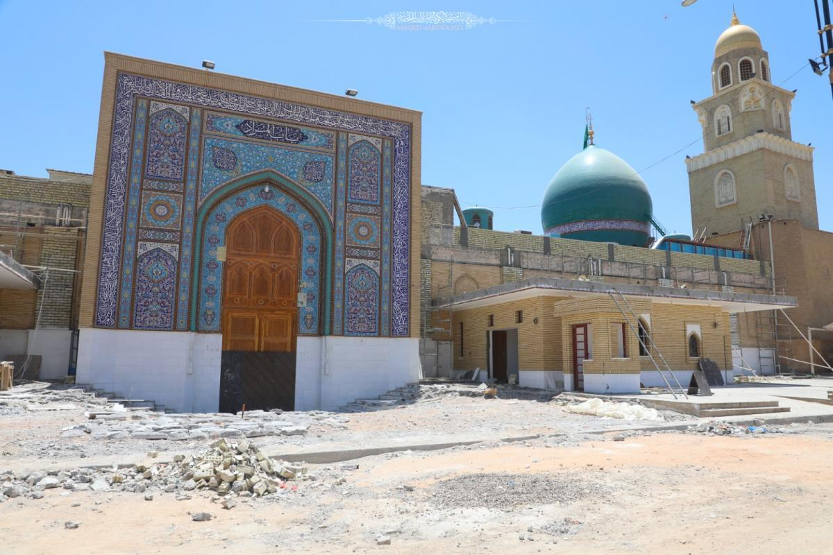 Continuing Works of constructing inspection  block of Babu Almurad Gate of Moslem's bin Aqeel ( AS) courtyard
