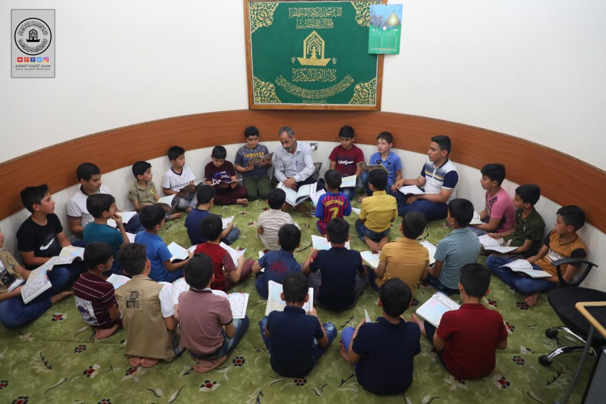 Bara'im Asafeer course for teaching recitation , reading of Noble Quran at Alkufa Grand Mosque