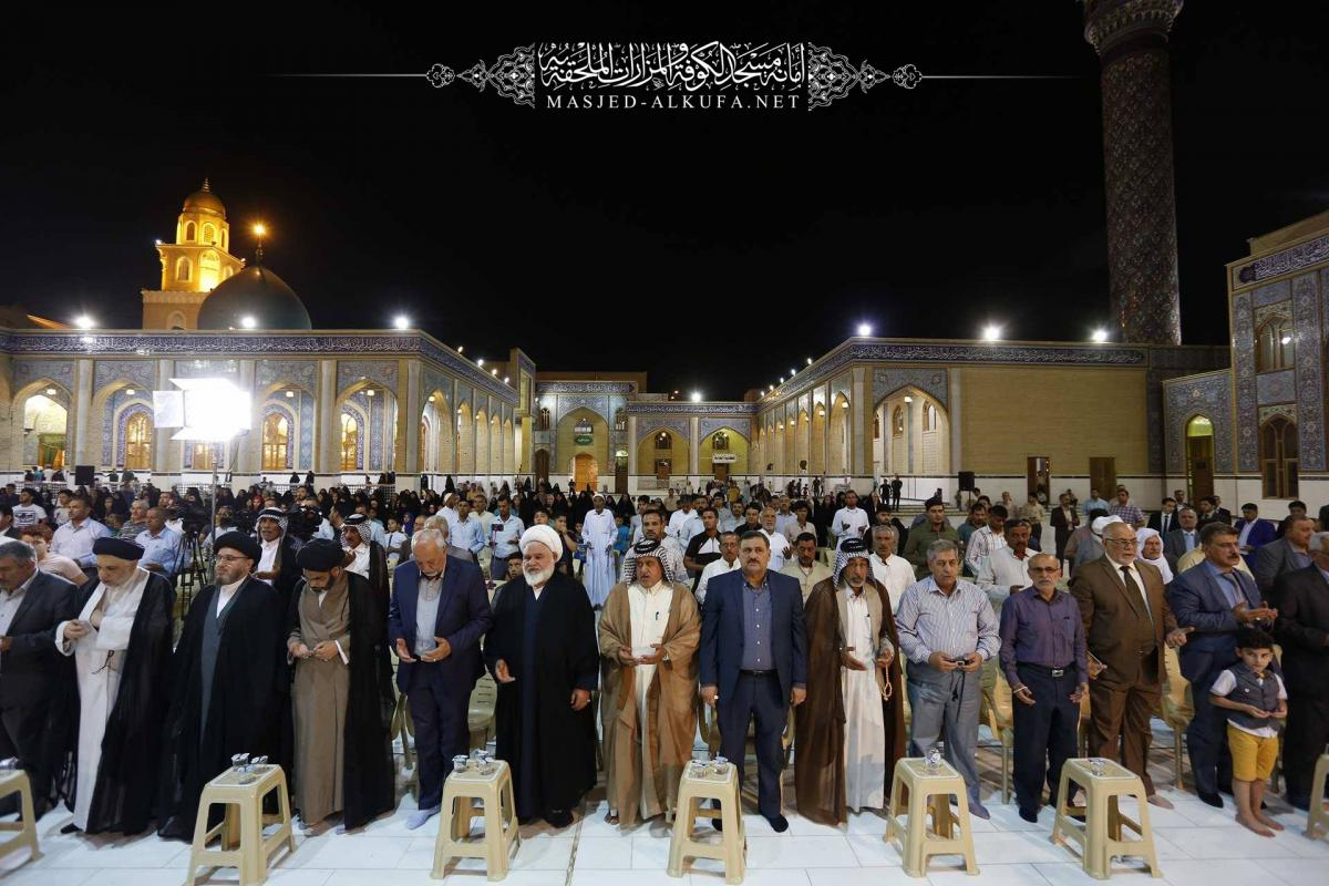 Alkufa Grand Mosque holds its annual assemble on occasion of Imam Mahdi's auspicious birth( A.S)