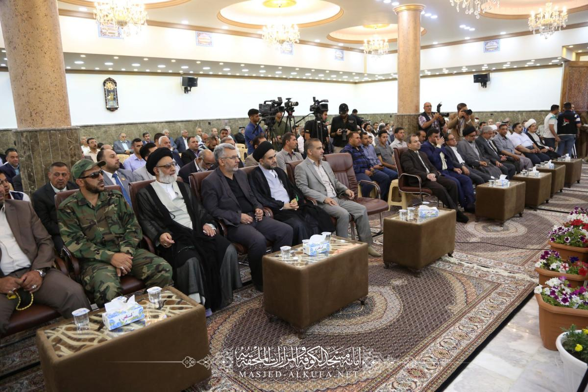 Alkufa Grand Mosque Secretary-General attends assemble of opening first stage of Safi Safa(A.S) holy shrine construction