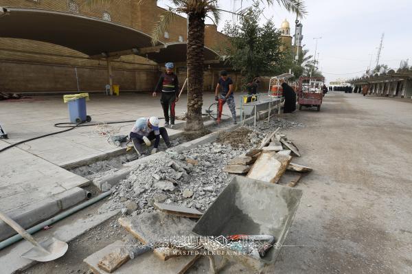 Alkufa Grand Mosque Secretariat begins outside lightening project