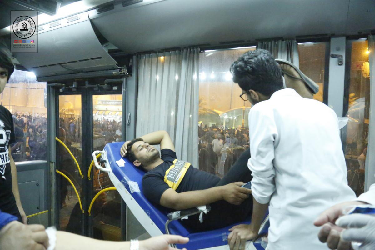 Campaign of blood donation  launched by Annajaf Health office in cooperating with Alkufa Grand Mosque Secretariat