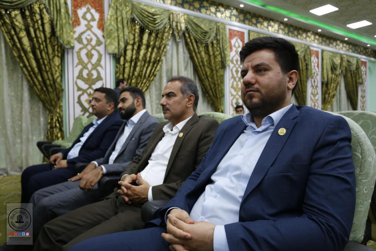 Alkufa Grand Mosque delegation  attends granting of prizes  to winners in Khutwa International Competition for finest shoot in Visit of Arba'een held by Secretariat of Imam Hussein's Holy Shrine.