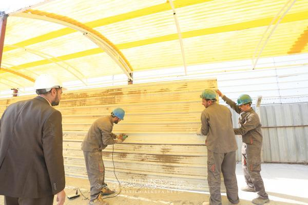 Engineering Cadres maintain ways led to Alkufa Mosque