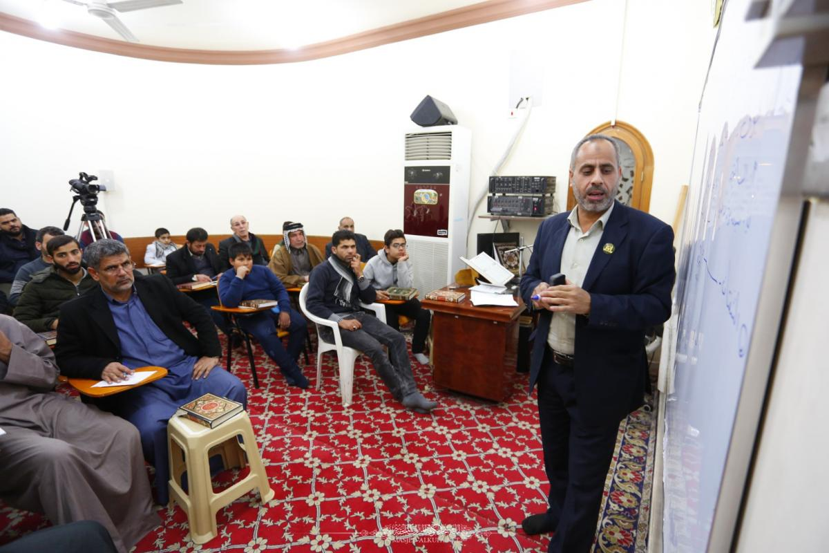 In pictures  Continuing of Master of Batha'a Quranic Course at Alkufa Grand Mosque
