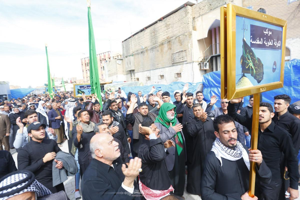Alkufa Grand Mosque Secretariat participates in commemorating Imam Hadi's (AS) Martyrdom