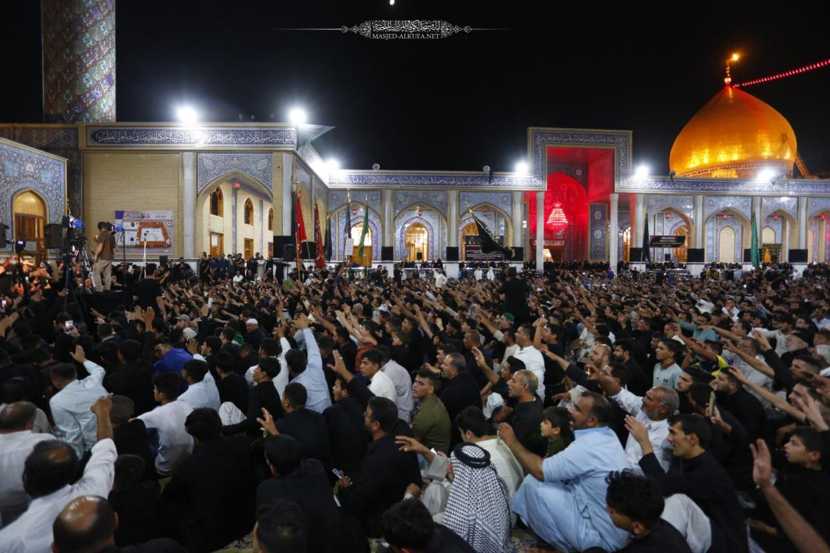 Alkufa Grand Mosque Secretariat receives Annajaf  Mourning Procession