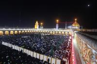 Visitors of ARbaeen attend congregational prayer held at Alkufa Grand Mosque