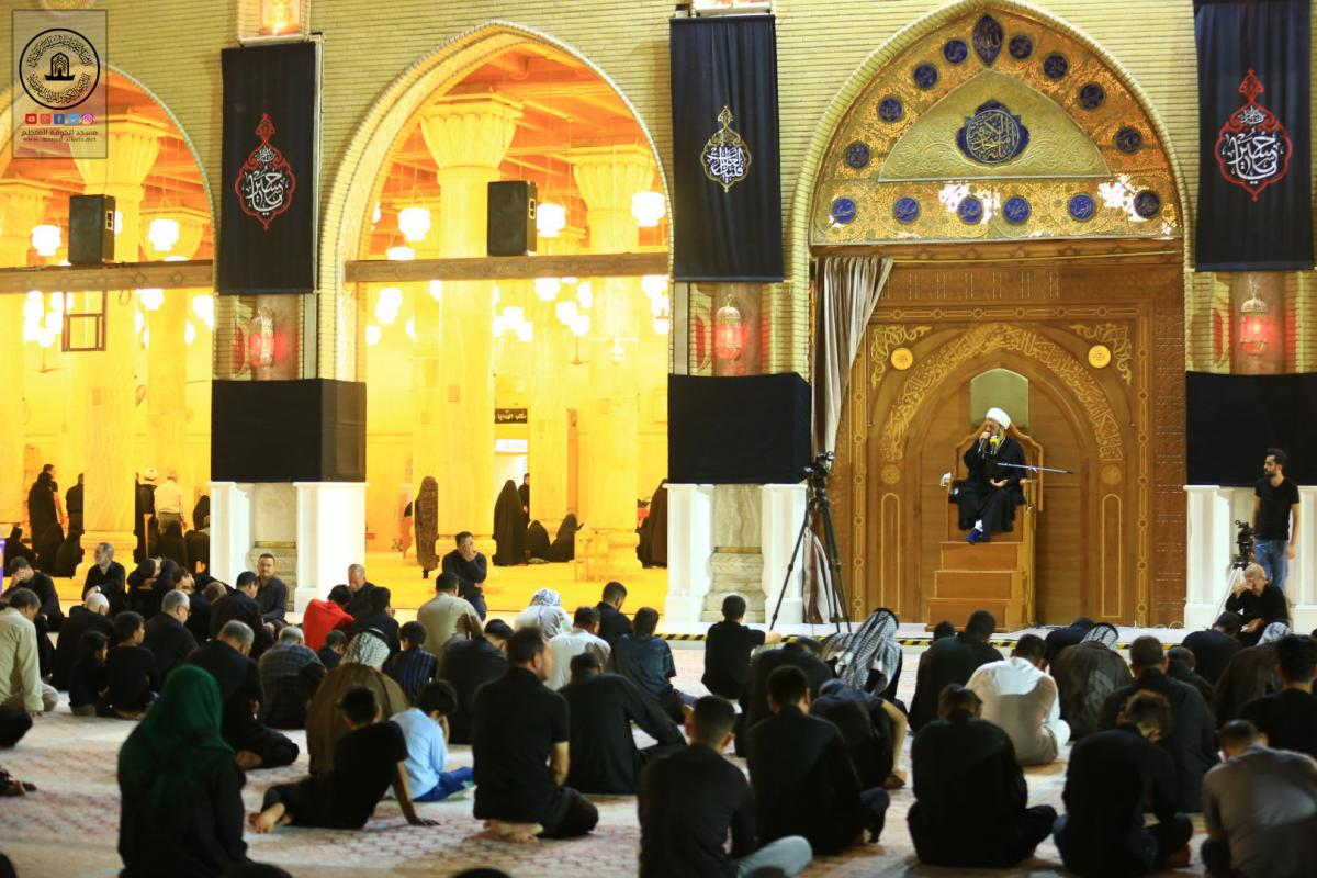 in pictures : Memorial Service held on occasion of Imam Asajad's Martyrdom by Alkufa Grand Mosque