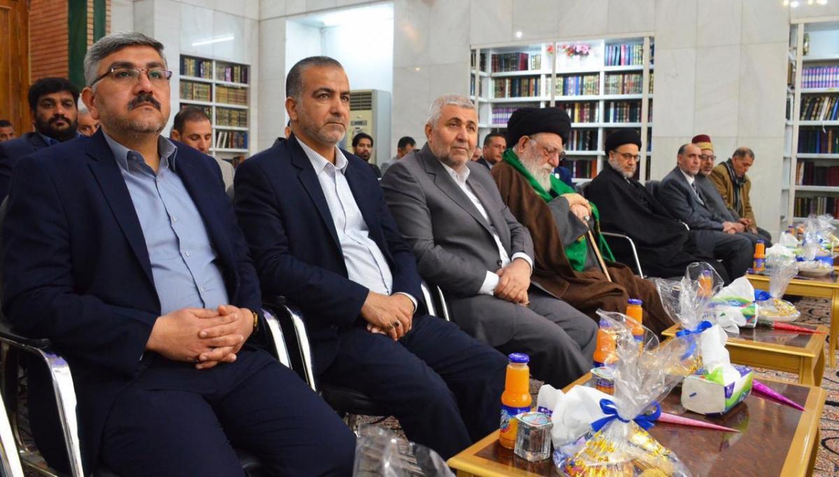 Alkufa Grand Mosque Secretary –General attends opening new golden Mausoleum at Assahla Mosque