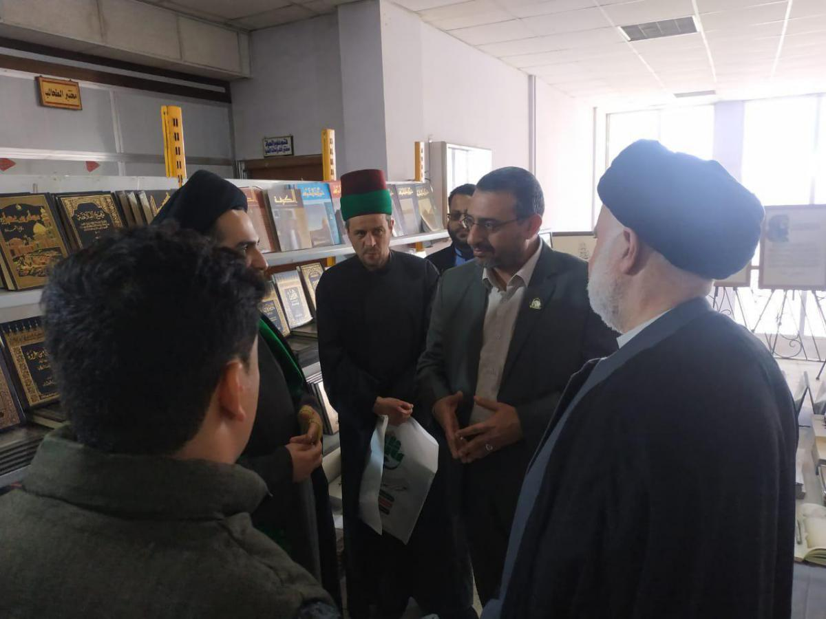 Distinguished participation of Alkufa Grand Mosque in Book Fair held by Thiqar University