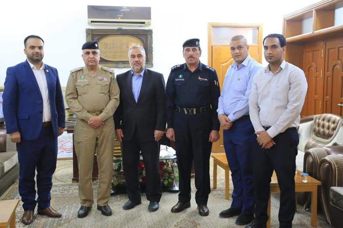 Alkufa Grand Mosque Secretariat discusses means of cooperation with Annajaf Police