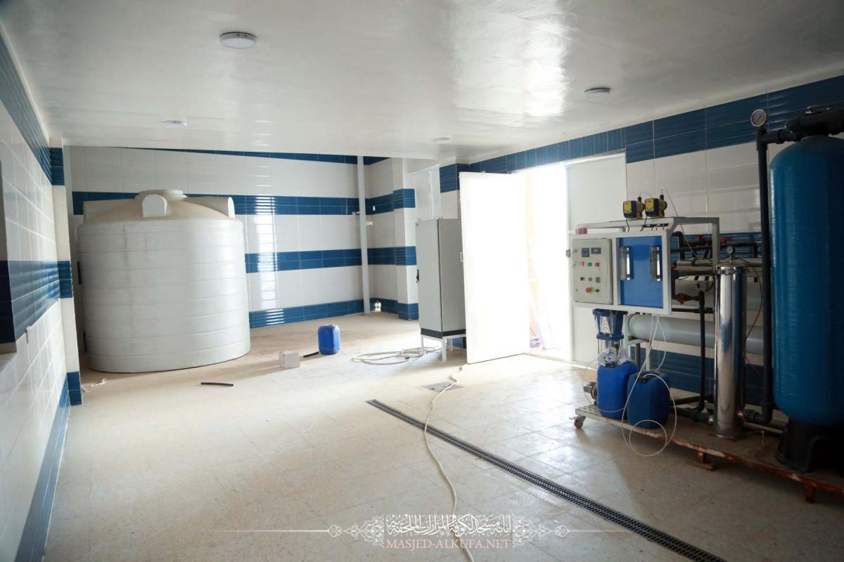 مشروع نقل محطة تحلية وتبريد مياه الشرب لزوار مسجد الكوفة الى مجمع الكهروميكانيك في مراحله الاخيرة