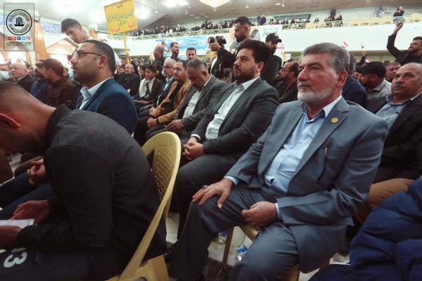 بحضور وفد أمانة مسجد الكوفة يقام المهرجان التأبيني الأول بذكرى شهادة قادة النصر في الحسينية الفاطمية بالنجف الأشرف
