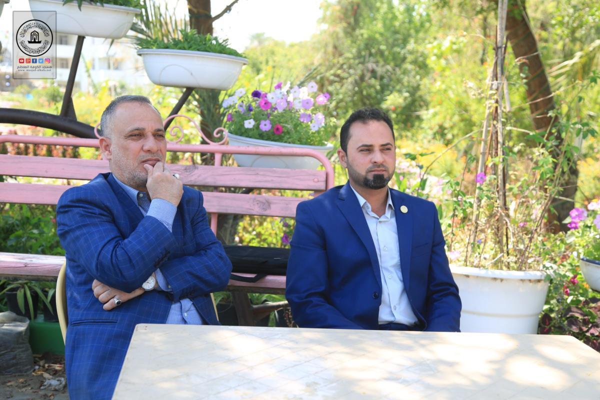 وفد امانة مسجد الكوفة يحضر حفل افتتاح الشارع الثقافي في مدينة الكوفة العلوية