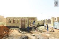 أمانة مسجد الكوفة تباشر ببناء بوابة الإمام علي (عليه السلام) مقابل دائرة بريد الكوفة لدخول الزائرين