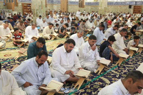 تراتيل الختمة القرآنية الرمضانية لليوم الخامس في مسجد الكوفة المعظم