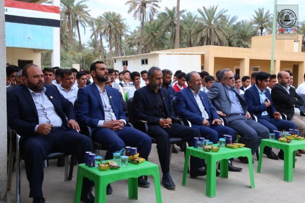 بالتعاون مع أمانة مسجد الكوفة اعدادية عبد الله بن عبد المطلب تقيم محفلاً قرآنياً