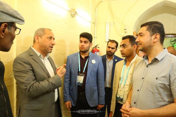 الشعراء العرب المشاركون في مهرجان ربيع الشهادة الخامس عشر يتشرَّفون بزيارة مسجد الكوفة المعظم ويطلعون على معالمه التأريخية
