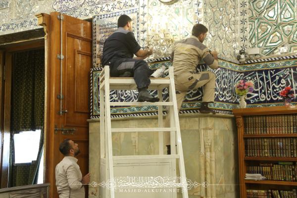 استبدال منظومة كاميرات البث المباشر بأخرى متطورة في مسجد الكوفة المعظم والمزارات الملحقة به