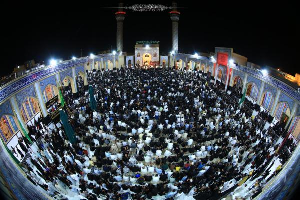 موكب النجف الأشرف يحط رحاله في الصحن الطاهر لمسلم بن عقيل (عليه السلام) ليحيي ذكرى شهادته