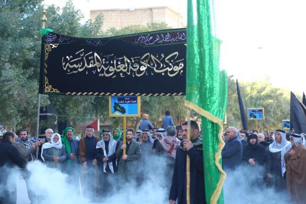 امانة مسجد الكوفة وأهالي المدينة يحيون ذكرى شهادة الزهراء (عليها السلام) في كربلاء المقدسة
