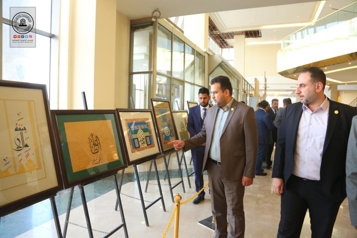وفد أمانة مسجد الكوفة يحضر انطلاق فعاليات المهرجان الفني الثقافي لطلبة معهد الفنون الجميلة في النجف الأشرف