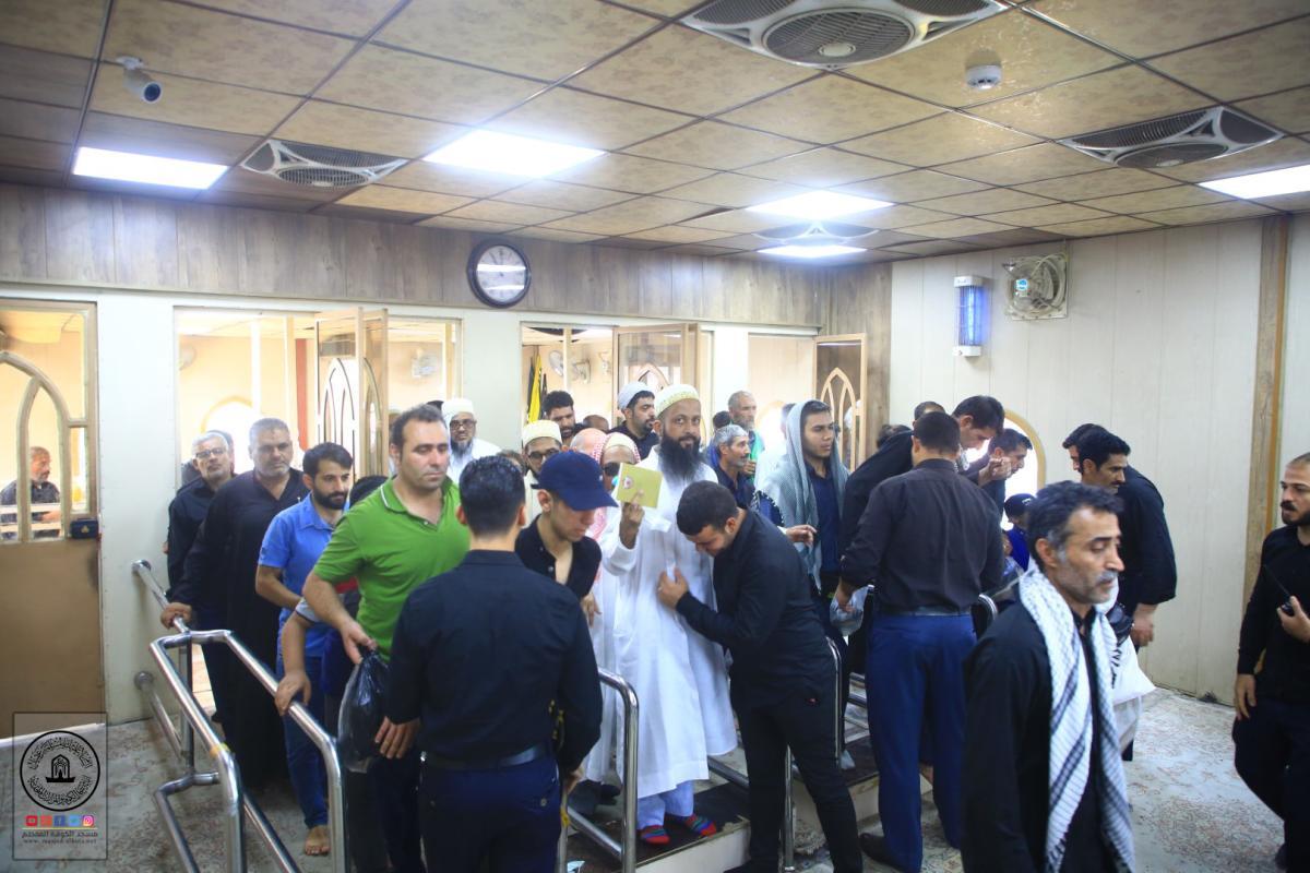 جهود استثنائية لمنتسبي قسم حفظ النظام في امانة مسجد الكوفة خلال زيارة الأربعين