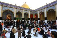 موكب أهالي مدينة القاسم يشاركون المؤمنين إحياء ذكرى شهادة مسلم بن عقيل (عليه السلام)