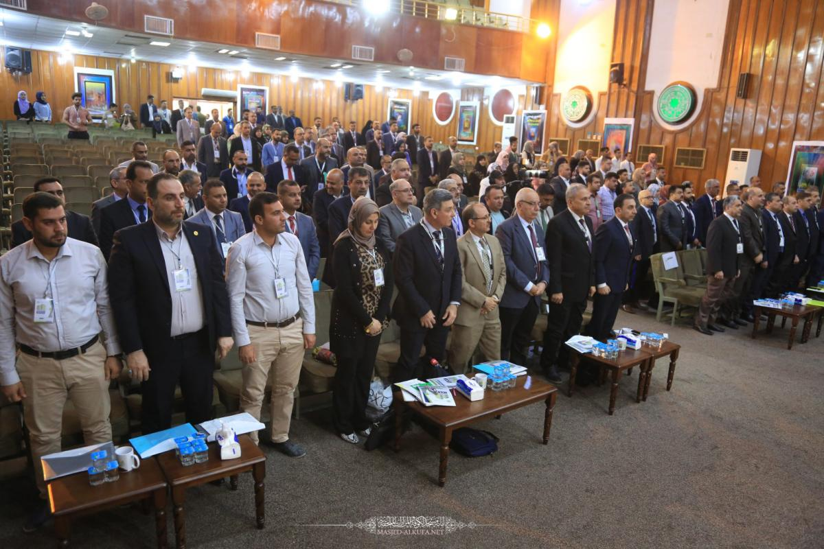 وفد امانة مسجد الكوفة يحضر أعمال المؤتمر الأول لعلوم الهندسة المدنية والبيئة في جامعة الكوفة