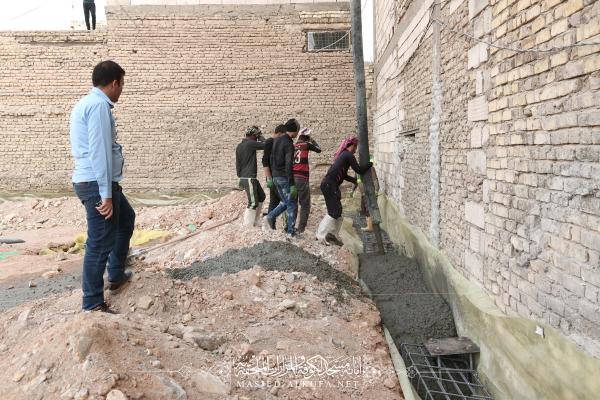 أمانة مسجد الكوفة تبدأ العمل بإنشاء مخزن السجاد الجديد