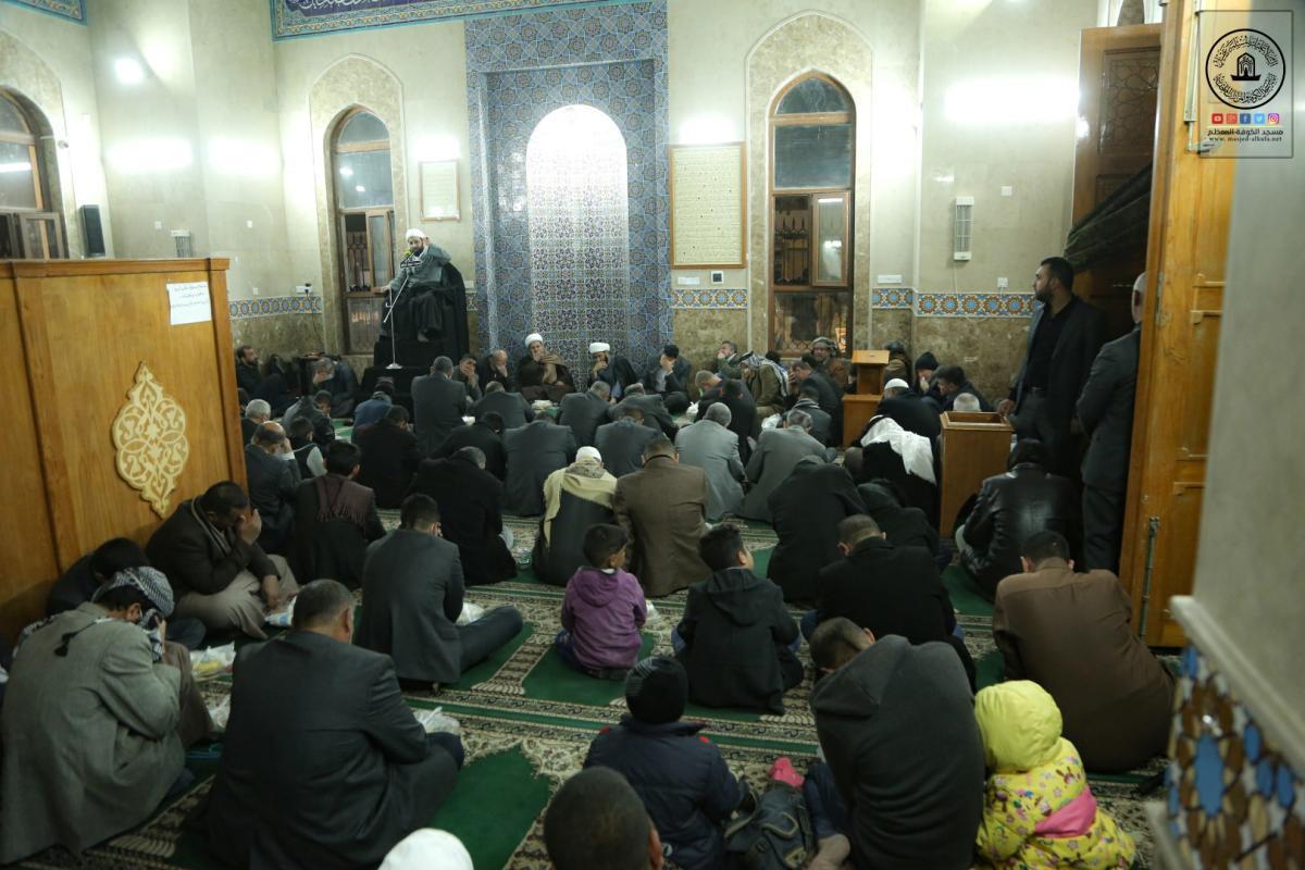 بذكرى شهادته أمانة مسجد الكوفة تقيم مجلس عزاء للصحابي زيد بن صوحان (رض) في مسجده المعظم