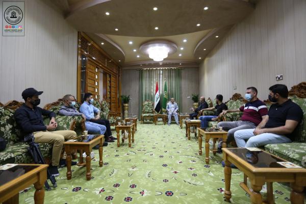 أمين مسجد الكوفة يستقبل وفد الشركة العامة لتعبئة وخدمات الغاز ويناقش آليات التعاون