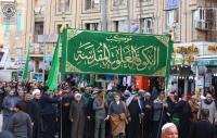 موكب الكوفة الموحد برعاية امانة مسجد الكوفة يحيي ذكرى وفاة أم البنين (ع) في كربلاء المقدسة