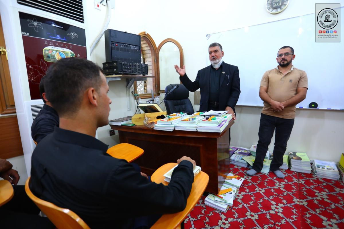 أمانة مسجد الكوفة المعظم تفتتح الصف الخامس الابتدائي في مركز السفير لمحو الأمية