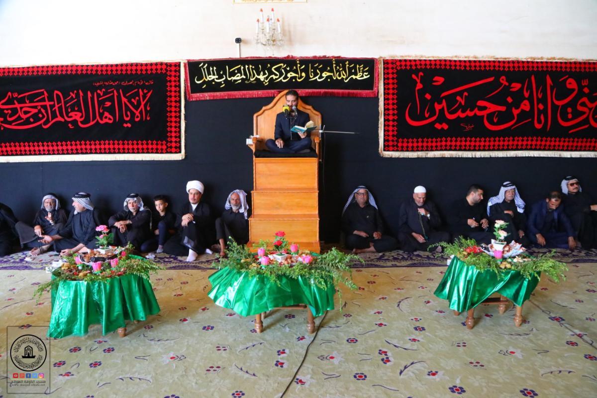المؤمنون يحيون في مسجد الكوفة المعظم ذكرى شهادة الشاب القاسم نجل الإمام الحسن (عليهما السلام) في واقعة الطف الخالدة
