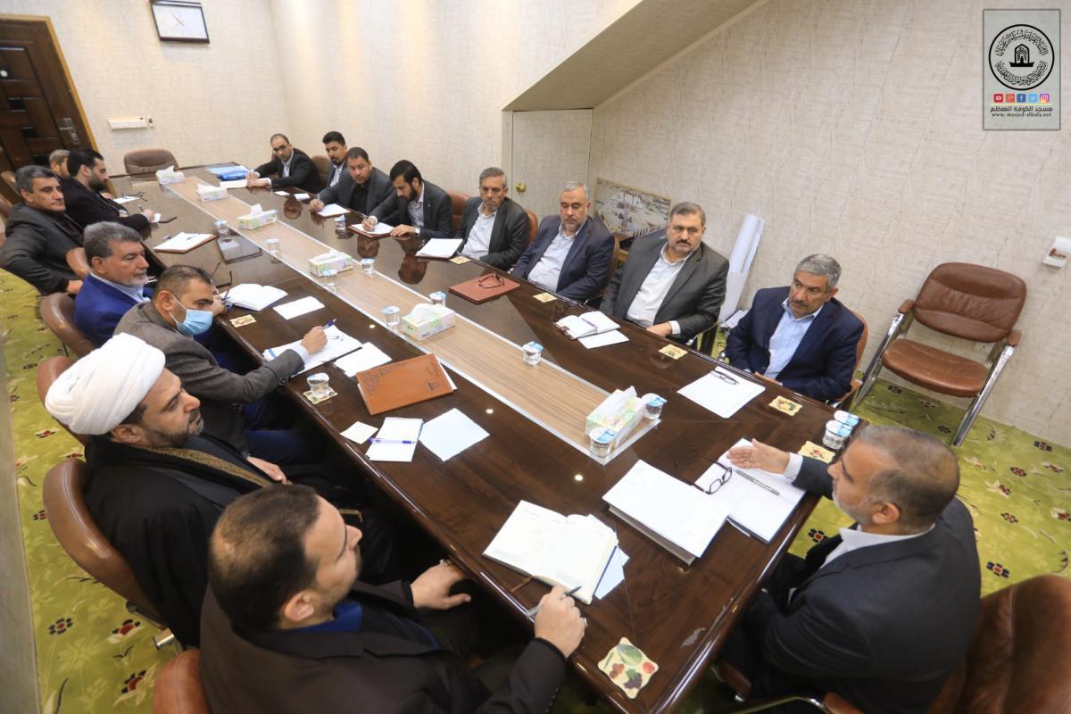 لمناقشة الخطة السنوية للعام الجديد أمين مسجد الكوفة يجتمع برؤساء الأقسام
