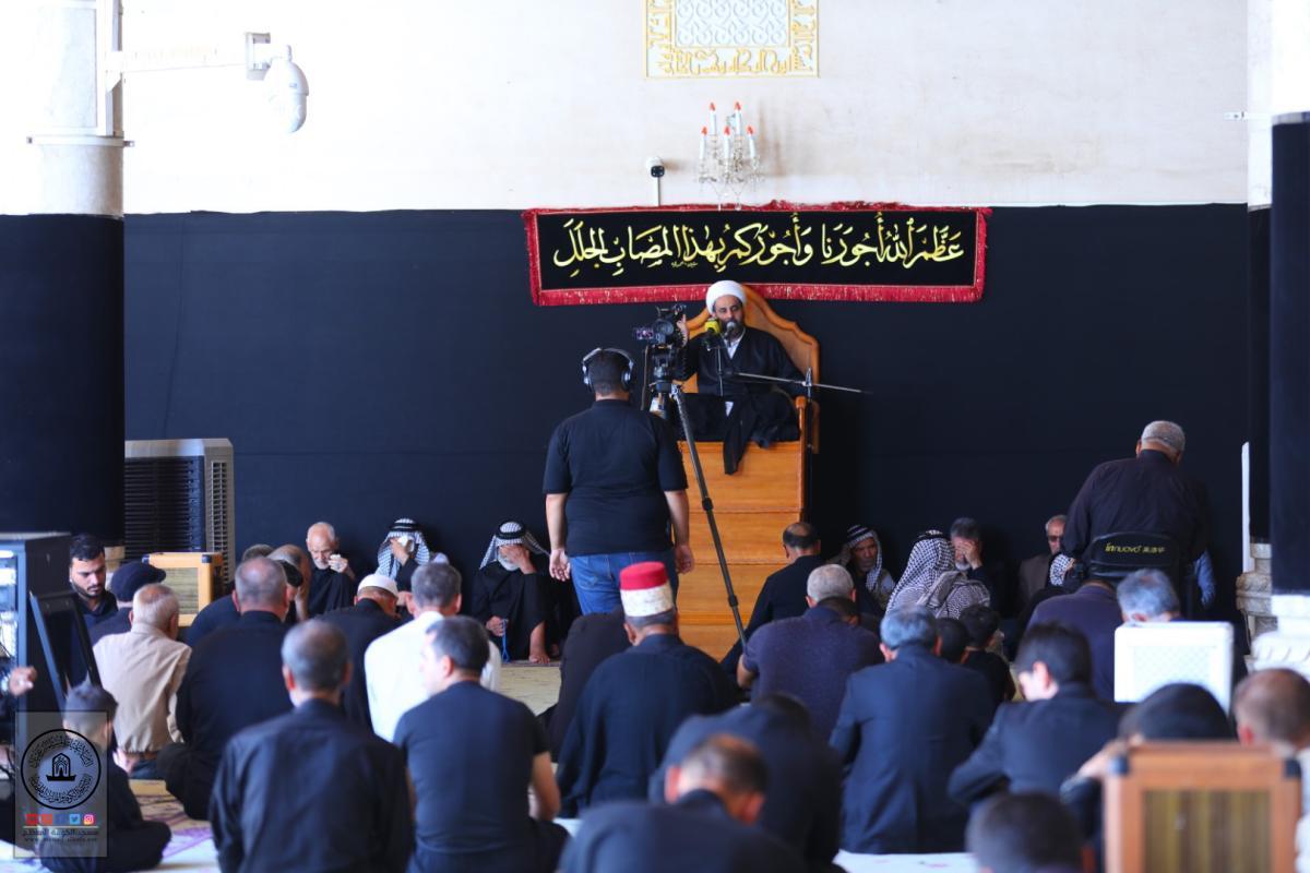 امانة مسجد الكوفة المعظم تقيم مجلس العزاء الحسيني في الأول من محرم الحرام